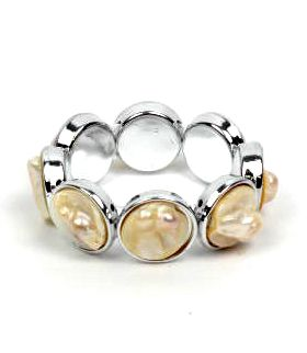 pulsera elástica conchas. realizada con conchas naturales [PUPO01] para Comprar al mayor o detalle