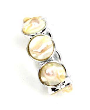 pulsera elástica conchas. realizada con conchas naturales y resina plástica muy ligera con elástico - Detalle Comprar al mayor o detalle