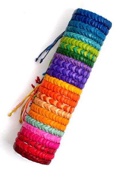 Pulseras de cuero multicolores, cierre ajustable Comprar - Venta Mayorista y detalle