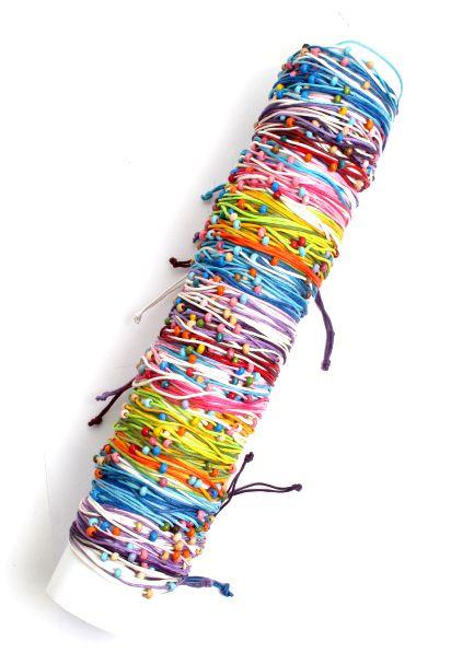 Pulseta multivuelta de algodón con cuentas de colores, tamaño Comprar - Venta Mayorista y detalle