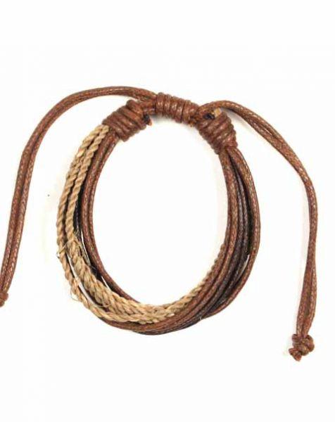 Pulseritas Hippie Eco - Pulsera multivueltas de algodón y cáñamo [PUVI24] para comprar al por mayor o detalle  en la categoría de Bisutería Hippie Étnica Alternativa.
