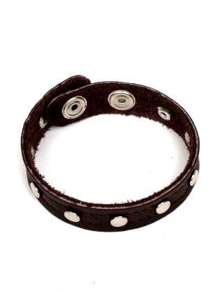 Pulsera cuero tachuelas estrecha. pulsera realizada en piel con decoración Comprar - Venta Mayorista y detalle