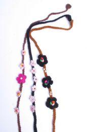 Cintas pelo / Máscaras - Flores para la frente de croché, VACH01_2.