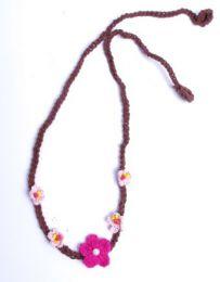 Flores para la frente de croché, estilo hippie VACH01_2 para comprar al por mayor o detalle  en la categoría de Accesorios de Moda Hippie Bohemia | ZAS.
