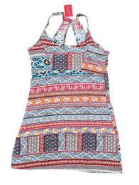 Vestidos Hippies Boho Étnicos - Vestido hippie con estampado VECT04 - Modelo 186