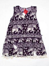 Outlet Ropa Hippie - Vestido estampado étnico VEET01 - Modelo Morado