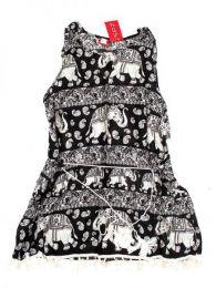 Outlet Ropa Hippie - Vestido estampado étnico VEET01 - Modelo Negro
