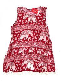 Vestido estampado étnico Mod Rojo