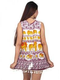 Vestido estampado étnico detalle del producto