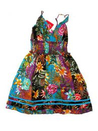 Vestido corto de algodón Mod Azul
