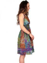 Vestido corto de algodón detalle del producto