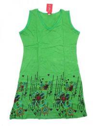 Vestido 100% algodón Mod Verde