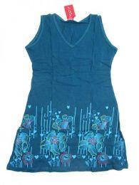 Vestido 100% algodón Mod Azul