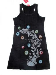 Outlet Ropa Hippie - Vestido 100% algodón VEEV07 - Modelo Negro