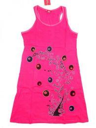 Outlet Ropa Hippie - Vestido 100% algodón VEEV07 - Modelo Rosa