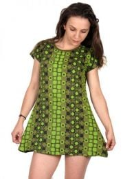Hippie Clothing Outlet - Printed rayon dress [VEEV10] to buy in bulk or in detail in the Alternative Ethnic Hippie Outlet category.