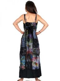 Vestido largo patchwork tirante detalle del producto