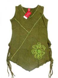 Top hippie de algodón Mod Verde