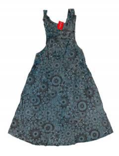 Monos Petos y Vestidos largos - Vestido Peto-Falda estampado VEEV15 - Modelo Azul
