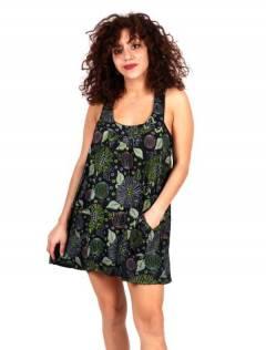 Vestido corto estampado VEEV17 para comprar al por mayor o detalle  en la categoría de Ropa Hippie Alternativa para Mujer.