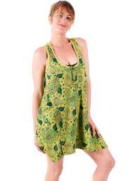 Vestidos Hippies y Etnicos - Vestido corto estampado con VEEV18.