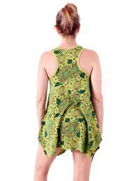 Vestidos Hippie Étnicos - Vestido curto estampado com VEEV18.