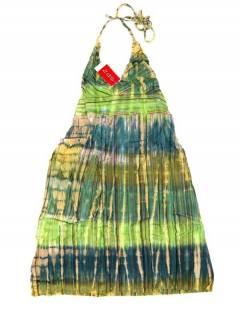 Monos Petos y Vestidos largos - Vestido de algodón VEEV21 - Modelo Verde