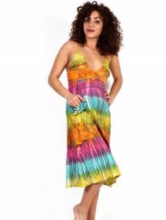 Hippie Tie Dye Multicolor Dress, da acquistare all'ingrosso o dettaglio nella categoria di abbigliamento hippie da donna | Negozio alternativo ZAS. [VEEV21]