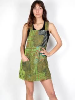 Robe Hippie patchwork imprimé VEEV22 pour acheter en gros ou détail dans la catégorie Vêtements Hippie Femme | Magasin alternatif ZAS.