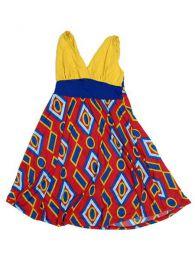 Vestido estampado étnico Mod Amarillo