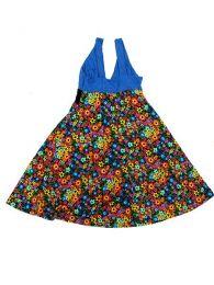 vestido tirantes flores colores, detalle del producto