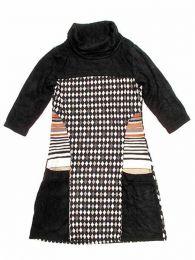 Vestido estampado étnico Mod Negro