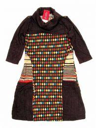 Vestido estampado étnico Mod Marrón