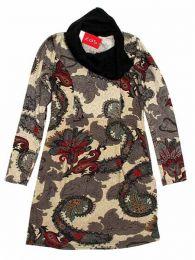 Vestido estampado étnico Mod Granate