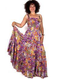 Vestido hippie largo estampado con tirantes, para comprar al por mayor o detalle  en la categoría de Ropa Hippie de Mujer   ZAS Tienda Alternativa.[VEHC03]