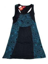 Vestido hippie de algodón Mod Negro