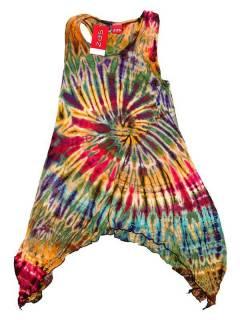 Robe hippie asymétrique tie dye VEJU04 à acheter en gros ou en détail dans la catégorie des accessoires hippies alternatifs.
