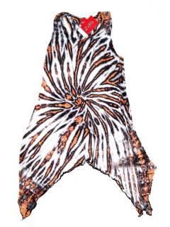 Abiti etnici per hippy - Vestito per tintura hippie VEJU04 - Modello bianco