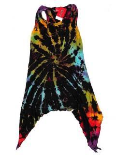 Abiti hippie etnici - Vestito hippie VEJU04 Tie Dye - Modello nero
