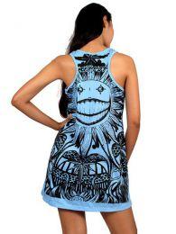 Vestido de tirantes, con estampado detalle del producto