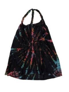 Vestidos Hippie Boho Alternativos - Mini Vestido hippie Tie Dye VEPN01 - Modelo Negro