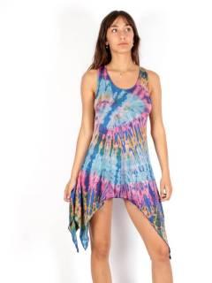 Vestido hippie Tie Dye asimétrico,  para comprar al por mayor o detalle  en la categoría de Ropa Hippie de Mujer | ZAS Tienda Alternativa. [VEPN02]