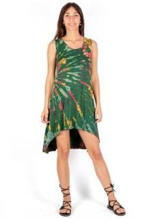 Vestido hippie Tie Dye asimétrico,  para comprar al por mayor o detalle  en la categoría de Ropa Hippie de Mujer | ZAS Tienda Alternativa. [VEPN03]