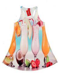 Vestido con estampados digitales, Mod Fruit coctel
