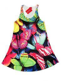 Vestido con estampados digitales, Mod Mariposas
