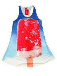 Vestido con estampados digitales, Mod Polo