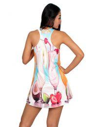 Vestido con estampados digitales, detalle del producto