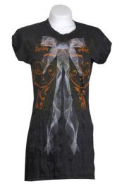 Outlet Ropa Hippie - vestido algodón arrugado VEPS01 - Modelo Negro