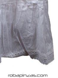 Vestido ibicenco corto algodón, detalle del producto