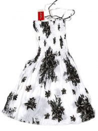 White dress with flower print VESG01 to buy in bulk or detail in the Horn and Bone Dilators Piercing category.